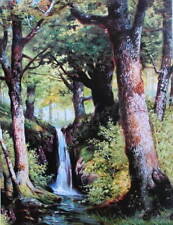 Mid Summer Landcape Water fall Trees by Wainwright