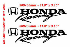2x  Honda Racing Type R sticker Vinyl Die cut Honda Racing Black Decal