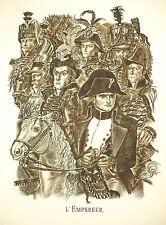 Napoléon Bonaparte l' Empereur gravure par Albert Decaris 52cm 1952 31/33