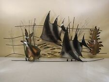1993 Curtis Jere Metal Fish Wall Sculpture ~Signed ~