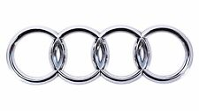NEW 06-12 AUDI CHROME REAR RINGS Trunk Boot Badge Emblem A3 A5 A4 A6  7.5""