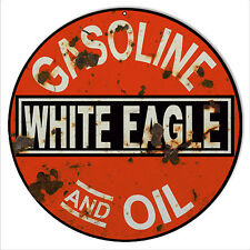 Reproduction White Eagle Gas And Oil Sign 14 Round