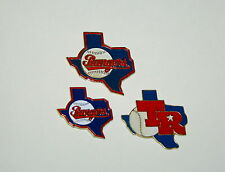 Vtg Texas Rangers State Logo MLB Baseball Team 3 Pin Collectors Set NOS New