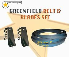 GREENFIELD RIDE ON MOWER BLADE & BELT SET To suit Selected Models. (OEM GT371)