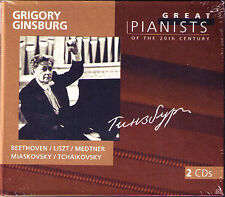 Grigory Ginsburg: Great pianists of the 20th Century 2cd Liszt Beethoven Medtner