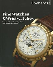 BONHAMS WATCH Breguet Cartier IWC Omega Patek Piaget Rolex Vacheron Catalog 2012