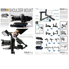 DSLR Rig Movie Kit Shoulder Rig Mount Support Pad fr Nikon D810 D610 D7200 RL01