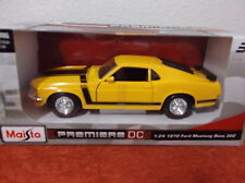 """""""1970 """"FORD MUSTANG BOSS 302"""" YELLOW  MAISTO DIE CAST CAR 1:24  NEW IN BOX"""