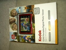 "new Kodak G240 red Portable Digital Photo Viewer 2.4"" TFT LCD display G 240 view"