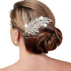 1920s Gatsby Diamante Feather Leaf Bridal Prom Hair Pin Clip Dress Slide Comb