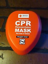 American Red Cross CPR Resuscitator Mask Oxygen Inlet NEW