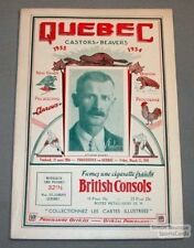 1933-34 Reds VS Quebec Beavers Program Whales
