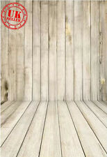 CREAM WOOD BACKDROP WALLPAPER FLOOR BACKGROUND VINYL PHOTO PROP 5X7FT 150x220CM