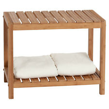 Bath Bench Or Shower Chair Spa Sauna Bamboo Shelf Storage Bathroom Accessories