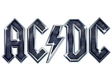 AC/DC metallic shaped vinyl sticker 160mm x 70mm rock metal