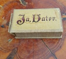 """Antique German Christian Quotes """"Ja Vater"""" (Yes Father)"""