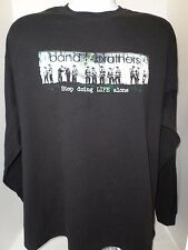 Men's Black DRYBLEND Band Of Brothers TV Show Long Sleeved T-Shirt size-XL