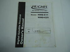 Hughes Digital Satellite Receiver Owner's Manual HIRD-E11 HIRD-E25 Directv Plus
