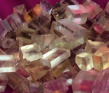 300 g Iceland Spar Yellow  Calcite crystals (Russia)