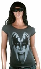 AMPLIFIED Official KISS Gene Simmons Rock Star Vintage Designer ViP T-Shirt g.XS