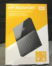 WD My Passport  1TB Portable HDD External Hard Drive USB 3.0 2.0 Black NEW