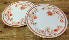 Oxford Lotus Garden 2 Bread Butter Plates Coral Asian Flowers Floral USA Lenox