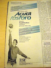 PUBBLICITA' ADVERTISING WERBUNG 1987 ACUTIL FOSFORO (G17)
