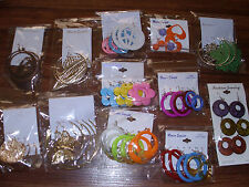 WHOLESALE LOT OF 36 PAIRS EARRINGS / DANGLE / HOOP / NEW