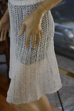All Hand Made Cotton Crochet Skirt Elastic Waist Band Can Also Used As Mini Dres