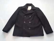 DENIM & SUPPLY RALPH LAUREN MEN'S NAVY WOOL BLEND PEACOAT SIZE L