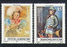Yugoslavia 1991 Europe/Art/Cat/Painting/Artists/people 2v set (n33962)