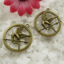 Free Ship 120 pieces bronze plated bird charms 27x25mm #739