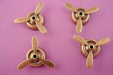 4 brass ox mounted propellers 22mm aviation airplane stampings steampunk