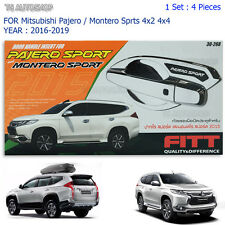 Fitt 4 Bowl Handle Insert Cover Fit Mitsubishi Pajero Montero Sport 2016 2017 V2