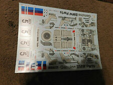 TAMIYA DECALS 1/24 BMW 635CSI Gr.A RACING