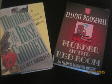 Murder in the Red Room & Murder in the Rose Garden Elliott Roosevelt LP Lot jk55