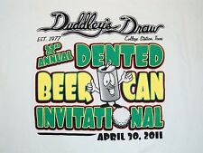 Dented Beer Can College Station Texas Duddley's Draw Golf Golfing T Shirt XL