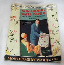 1930's Montgomery Ward & co WallPaper Sample Book Florals Borders All Color
