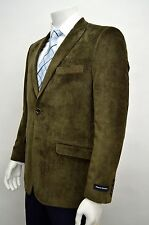 Men's Olive Brown Cotton Sport Jacket Size 36S NEW Blazer