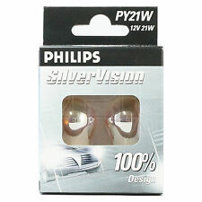 PHILIPS SILVER VISION PY21W (581) indicateur ampoules-Twin Pack -12496 svs2