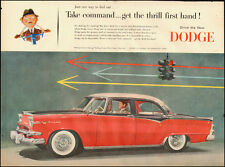 1955-Red Dodge Lancer Four-door, red `Automobile-Original Vintage Ad