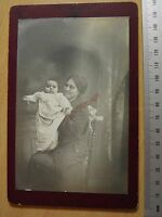 OLD CABINET PHOTO CDV Indian Lady and Child Victorian Or Edwardian Image S1 015