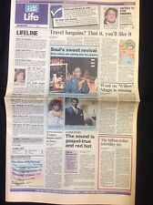 Vintage 1988 Regina Belle Carol Burnett Newspaper USA Today LIFE Section