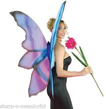 NEW Ladies Extra Large Blue Butterfly Angel Fairy Wings Fancy Dress Costume