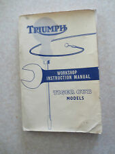 1960s Triumph motorcycles workshop instruction manual for Tiger Cub models