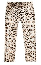 ROBERTO CAVALLI ITALY GIRLS 'BROWN LEOPARD' JEANS PANTS NWT$324~ 10/ 154
