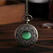 Mix Styles Bronze Quartz Vintage Retro Pendant Necklace Pocket Watch  New