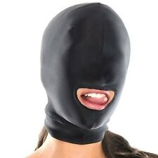 Sexy Toys Fetish Open Mouth Hood Mask Head Bondage Black Audlt Games Sex Product
