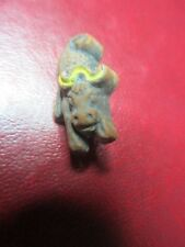 Antique Baked Clay Rampaging Bull Pin