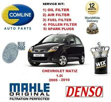 FOR CHEVROLET MATIZ 1.0 2005-2010 OIL AIR FUEL POLLEN FILTER SPARK PLUGS SEVICE